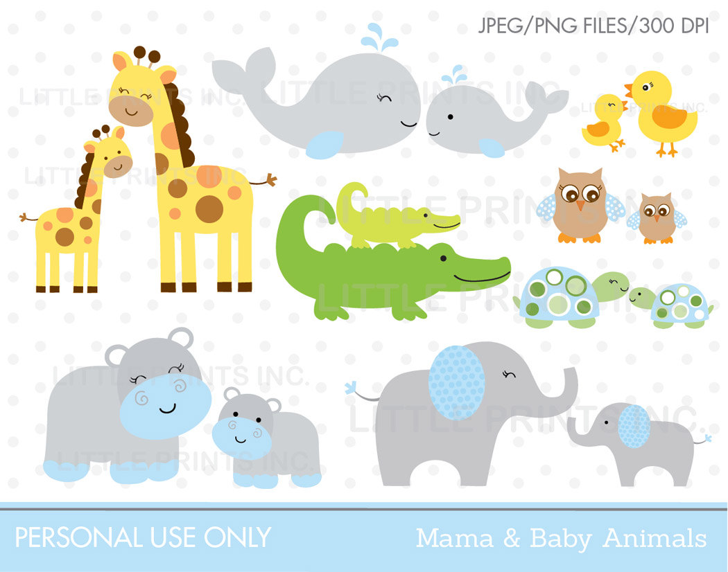 Mommy clipart baby animal Clipart and mama mama baby