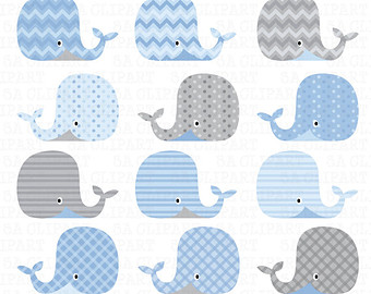 Mother And Baby clipart whale Clip Digital Whale