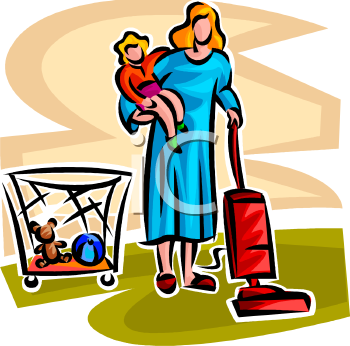Mother And Baby clipart working mother And Working Clip Clipart Working