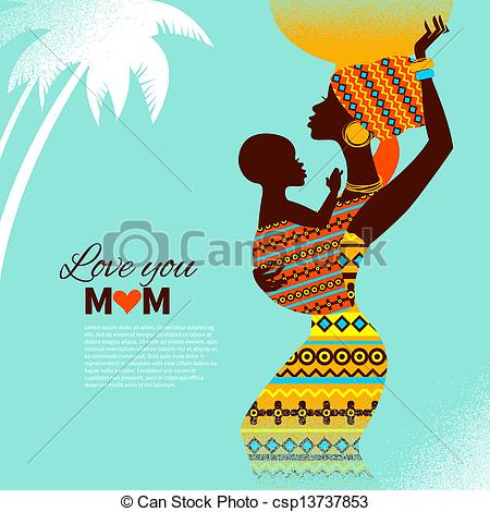 Mother's Day clipart african american #7