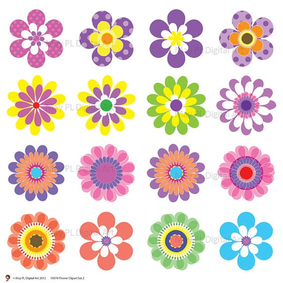 Yellow Flower clipart springtime flower Day Flowers clipart flowers Clip