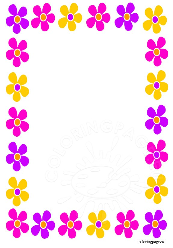 Mother's Day clipart border Page Coloring Mother's day Share: