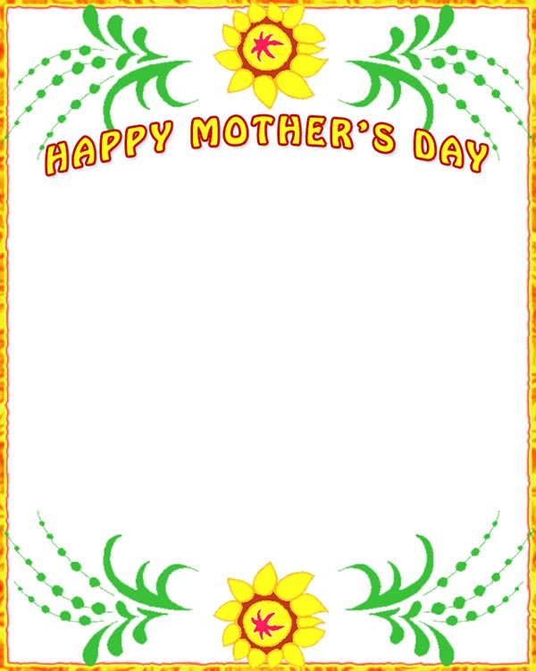 Mother's Day clipart border Day Free Mothers Clip Border