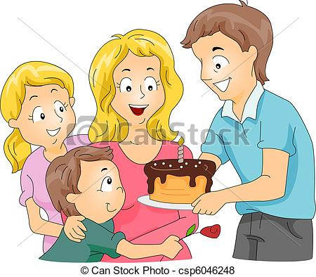 Mother's Day clipart celebration Family of Mother's Day Illustration