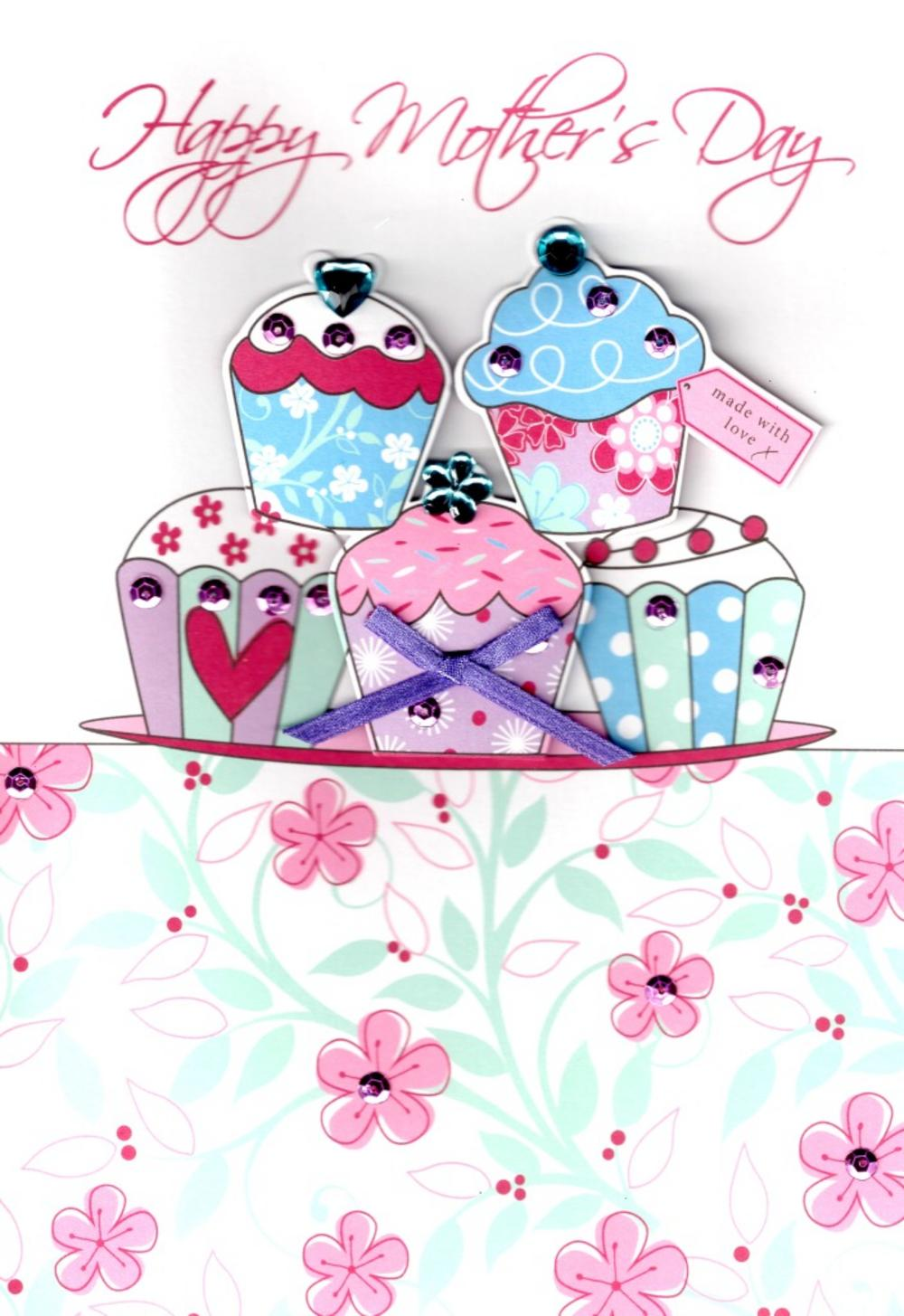 Mother's Day clipart cupcake Finished Mother's Hand Love Card