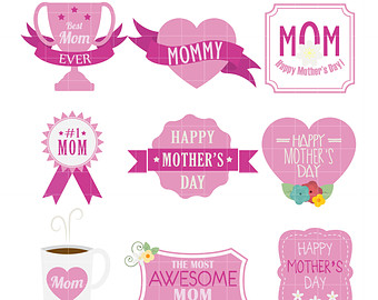 Mother's Day clipart cupcake Making Paper Day labels for