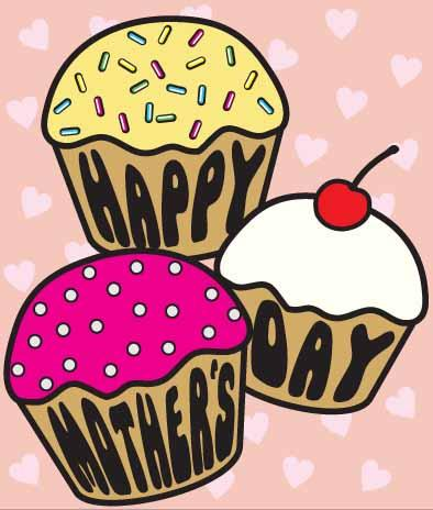 Mother's Day clipart cupcake Cards 3 Day Contemporary