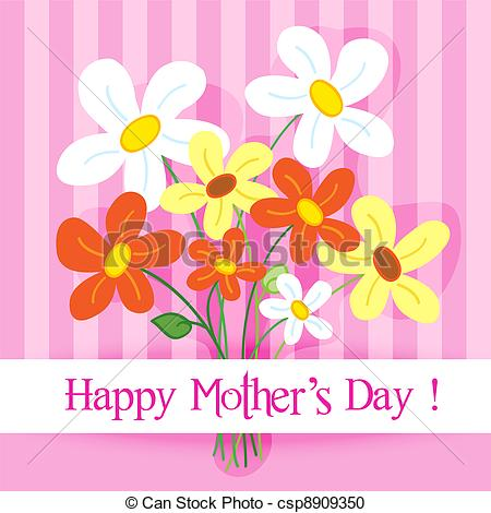 Mother's Day clipart cute Card of day csp8909350 Clipart