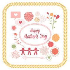 Mother's Day clipart cute Day Mother's Set // Day