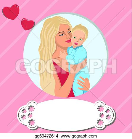 Mother's Day clipart gentle Illustration heart photo Vector son