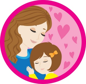 Mother's Day clipart hug Day Child her a daughter