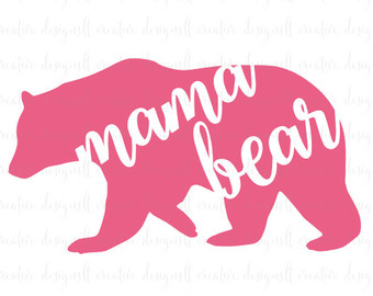 Mother's Day clipart mama bear Svg collections Etsy clipart bear