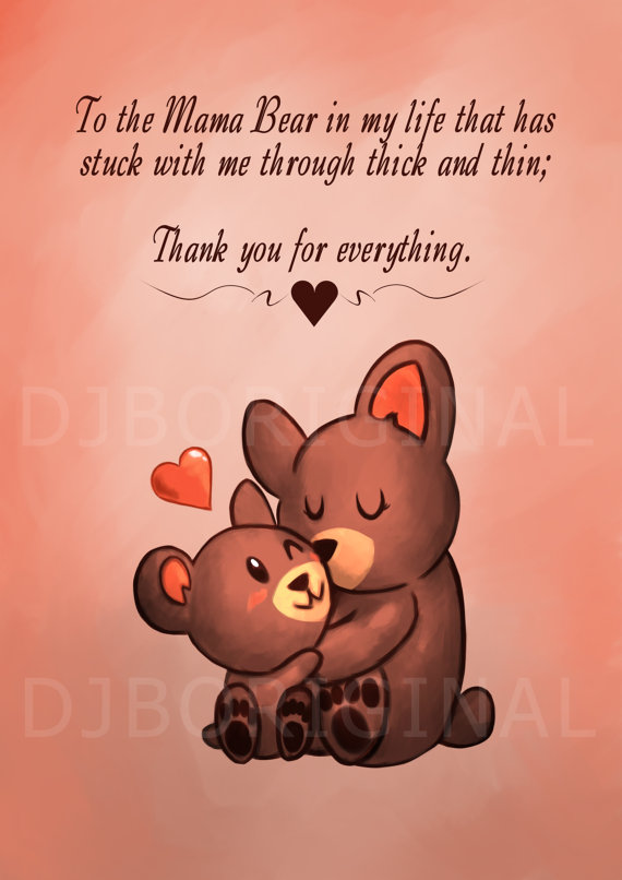 Mother's Day clipart mama bear  make card etsy from