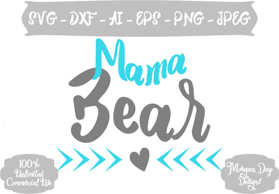 Mother's Day clipart mama bear SVG SVG from Bear Mama