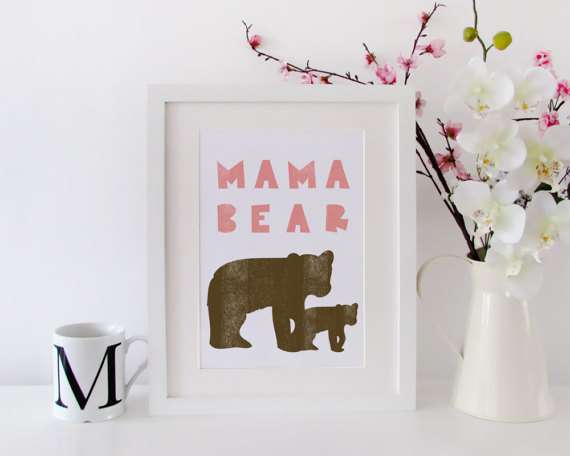Mother's Day clipart mama bear And print Bear card day