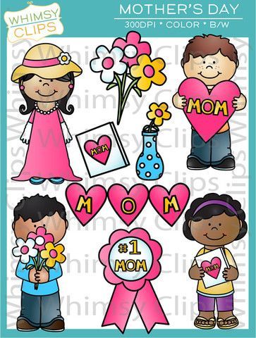 Mother's Day clipart mom kid Best day on Mother's Art
