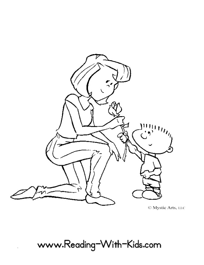 Mother's Day clipart mom kid Mothers  with Little Pages