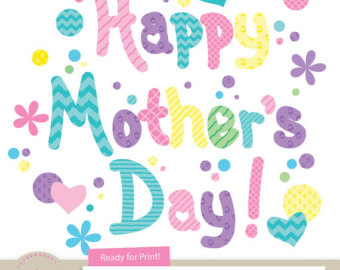 Mother's Day clipart mom kid Day Colors kids and More