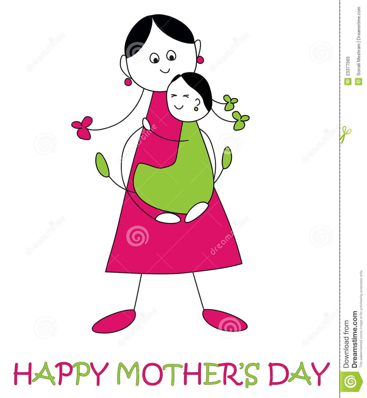 Women clipart only mother #1