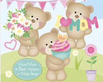 Teddy clipart mothers day Art Clipart Bear Etsy Mothers