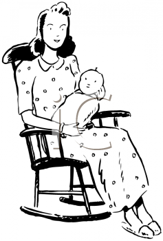 Mommy clipart her  Mothers Rocking Her Clipart