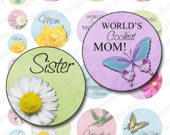 Mother's Day clipart sister Digital Printable Grandma INSTANT Pastels