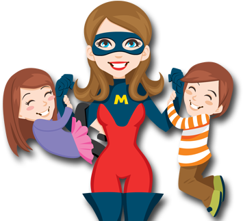 Mother's Day clipart super mom And we is who Mothers