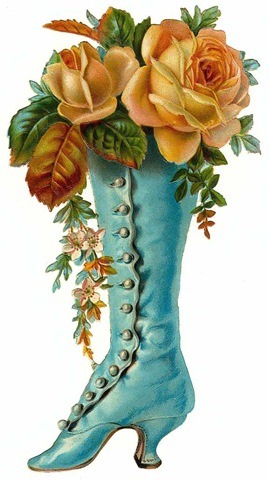 Boots clipart victorian Victorian mothers art turquoise art
