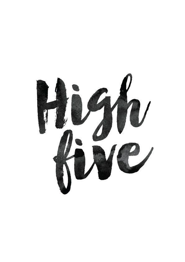 Motivational clipart high five #7
