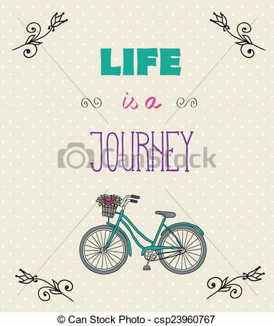 Motivational clipart life quotes With Typographic Art Vector jorney