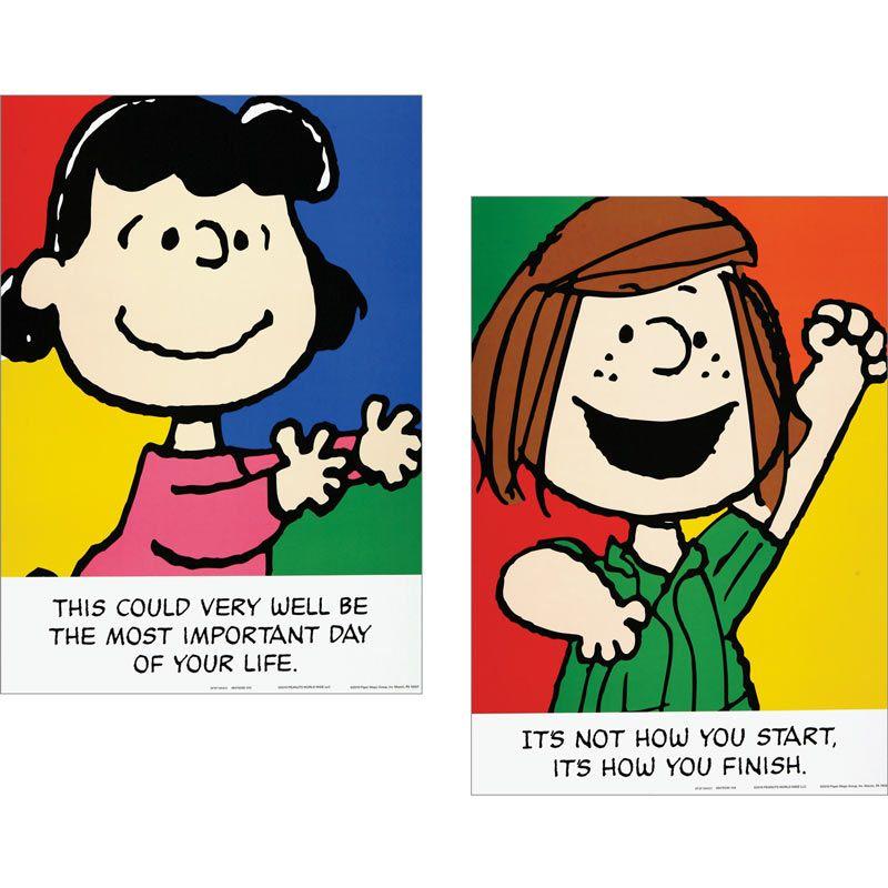Motivational clipart peanut character Set Phrases Motivational Peanuts