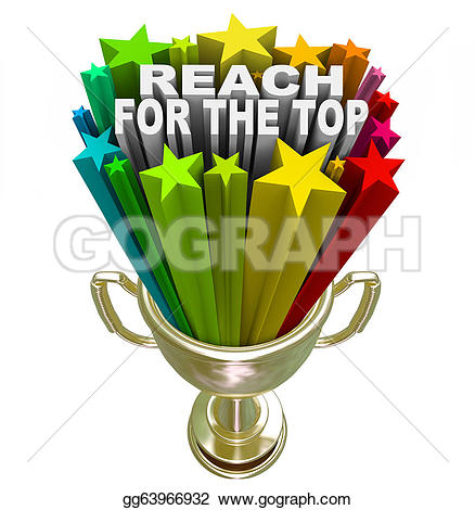 Motivational clipart reach for star Gold for gold  Competition