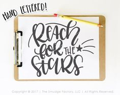 Motivational clipart reach for star SVG Free file the File