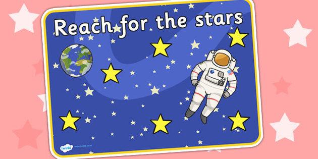 Motivational clipart reach for star Motivational Poster For Reach Stars