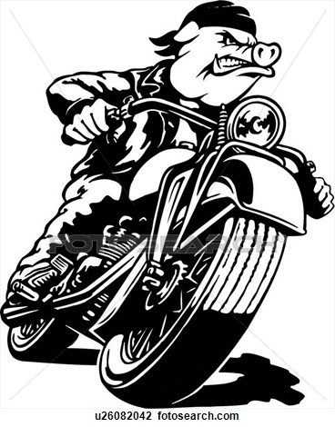 Biker clipart animated Motorcycle Download On Motorcycle Pig