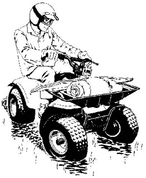 Motorcycle clipart atv Clipart a Clipart Illustration
