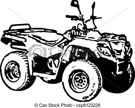 Motorcycle clipart atv Four ATV Vector wheel Vector