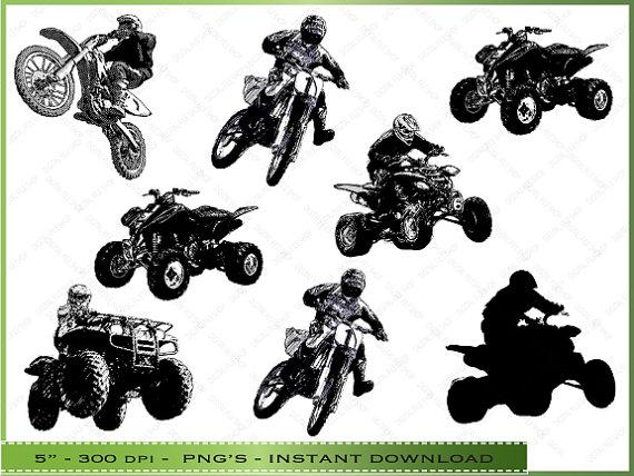 Motorcycle clipart atv DigitalFileShop Sea / Motorcycle Creatures
