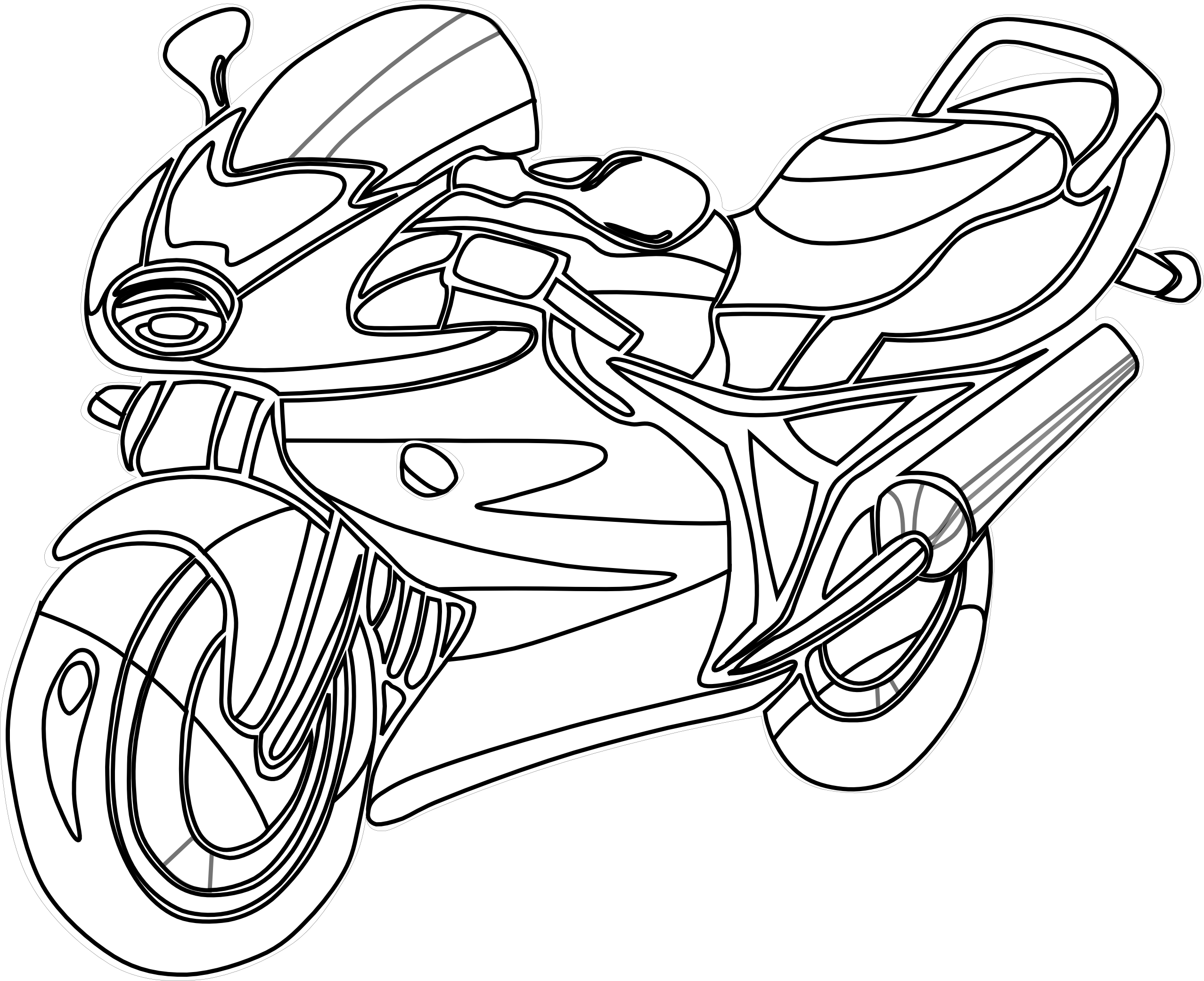 Honda clipart black and white Panda Motorcycle Free And Clipart