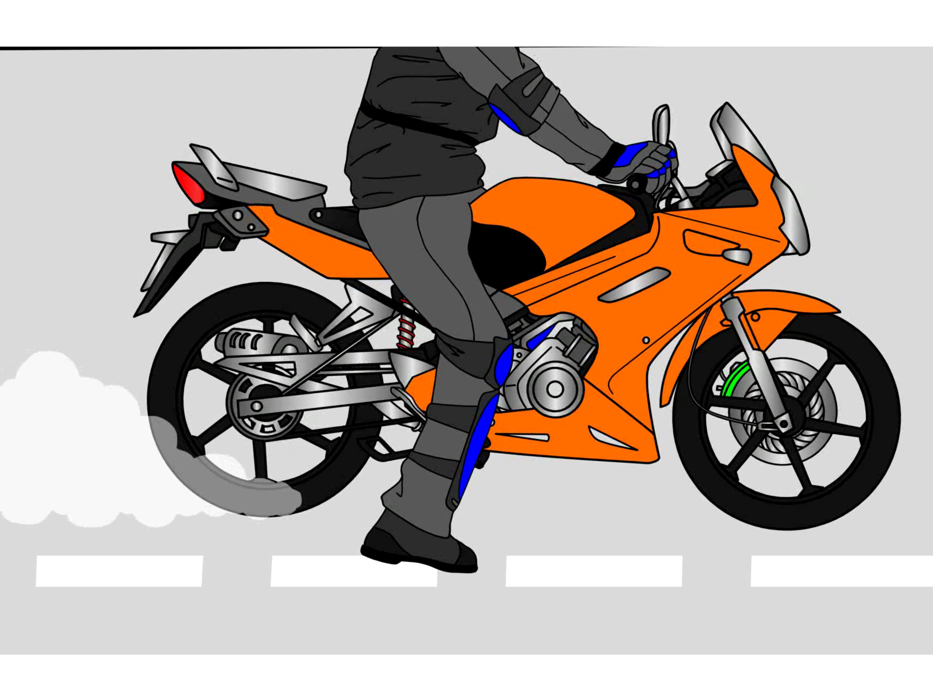 Smoking clipart motorcycle Steps to Motorcycle: How Burnout