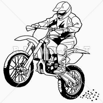 Drawn bike coloring page #10