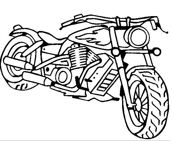 Drawn bike coloring page #1