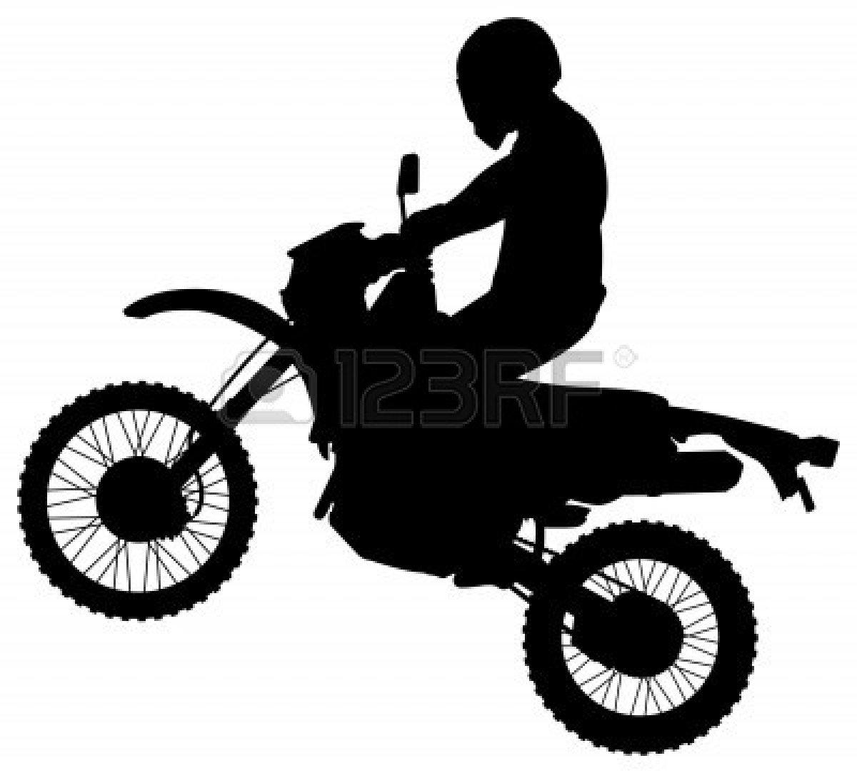 Stunt clipart dirt bike Black White Black Clipart Free