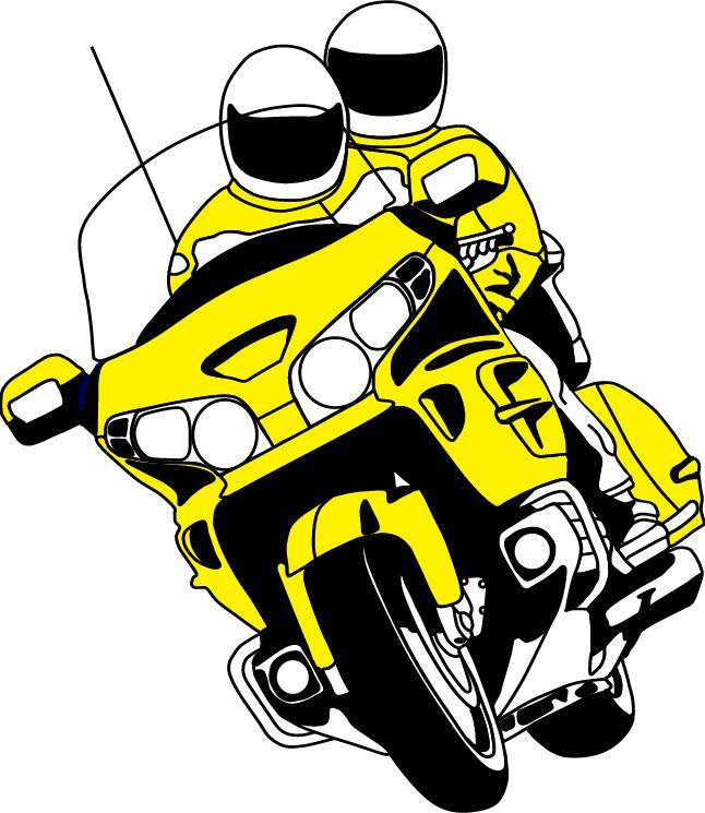 Honda clipart honda goldwing GWRRA Cartoon Michigan Clipart of