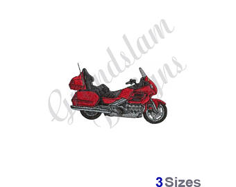 Motorcycle clipart honda motorcycle Goldwing Etsy Embroidery Design motorcycle