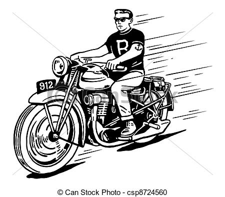 Drawn biker clip art #13