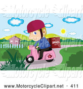 Motorcycle clipart mail Delivery Free by of a