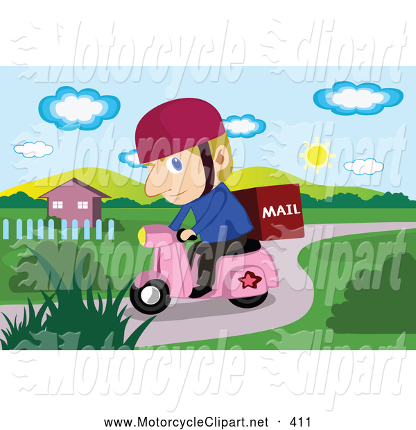 Motorcycle clipart mail Delivery a Transportation of a