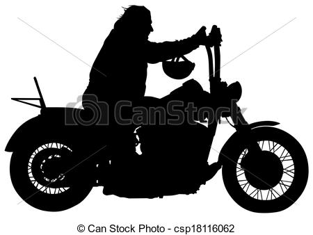 Motorcycle clipart man on On on Clip Vector