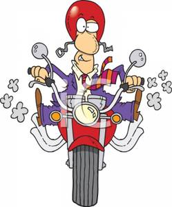 Motorcycle clipart man on Clipart Wearing Picture Riding Motorcycle